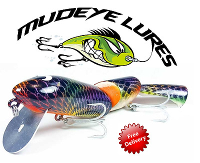 Mudeye Timber Rattle Snake Fishing Lures 200mm