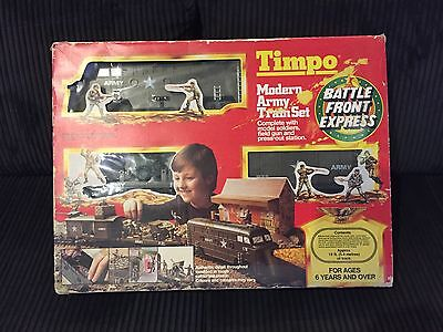 Timpo Modern Army Train Set Battle Front Express Very Rare 1970's Britains
