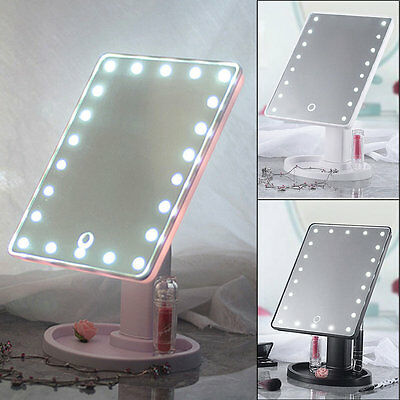 22 LED Touch Screen Makeup Mirror Tabletop Cosmetic Vanity light up Mirror AU