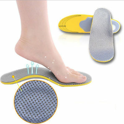 Women Men Orthotic High Arch Support Heel Pad Insoles Flat Foot Support Comfort