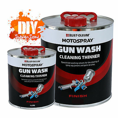 Gun Wash 4L / 20L Cleaning Thinner Solvent Cleaner Paint Equipment Motospray