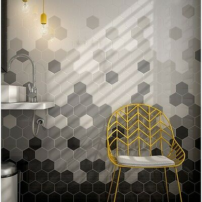 OL Ruvido Hexagon Eclipse Stone Patterned Porcelain Floor//Wall 450x450mm 5-10Sqm