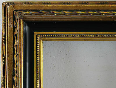 Wood Frame Decorated Gold Black Inside Dimension approx. 20x25 cm