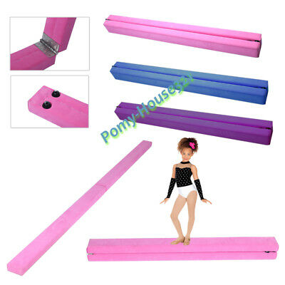 7ft 2.1M Gymnastics Balance Beam Floor Standing For Kids Beginner Gymnasts Child