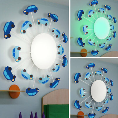 RGB LED Children Ceiling Lamp Remote Control Game Room Dimmer Car Wall Lamp new