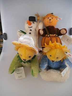 4 Steiff Teddys The Four Seasons 1997 US Edition limitiert (835)