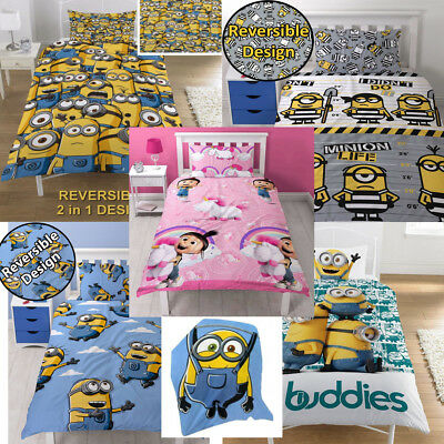 OFFICIAL Despicable Me Minions Single Duvet Cover Bed Set Kids Bedding CHILDRENS