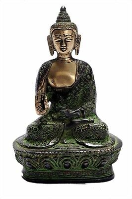 Bronze Antique Buddha Brass Statue Brass Tibet Buddhism Old Chinese Décor 7""