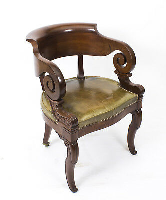 Antique Empire Mahogany Armchair Desk chair c.1820