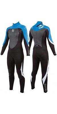 Billabong Synergy 3/2mm Women's Wetsuit 14,16 Black/Blue/White Turquoise C43G02