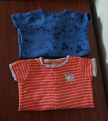 Carters Baby Boy Rompers, Size 6 months