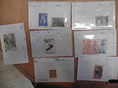 G13 LOT of Indo-China & China Stamps repub. franc. 15 Soldiers 10c 1fr Pandas +