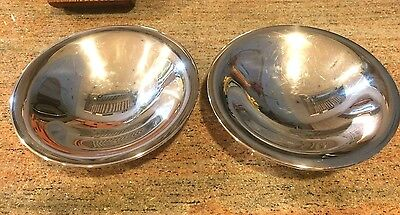 A pair of silver bowls - Onieda Ltd. Wm. A Rogers; matching candy or nut bowls;