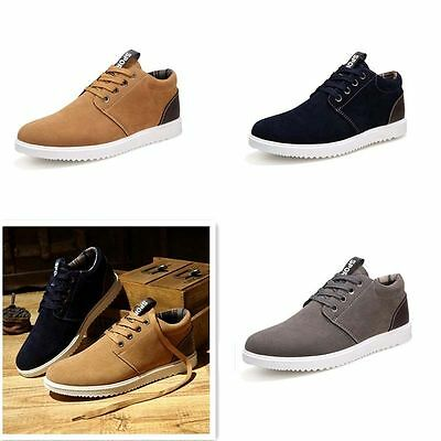 Men's Casual Sports shoes Suede Sneakers Breathable Recreational Running Shoes