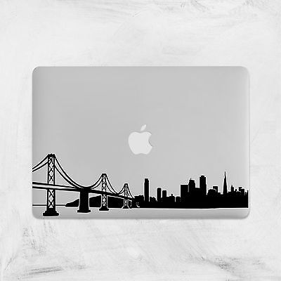 San Francisco Skyline Decal for Macbook Pro sticker vinyl air 13 15 11 laptop