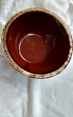 "Hull Oven Proof Brown Drip Glaze 7"" Bowl"