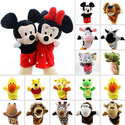 Disney Animal Hand Glove Puppet Soft Plush Puppets Kid Children Baby Cartoon Toy