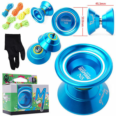Magic YoYo N5 Aluminum Yo-Yo Toys+5xStrings+Glove Ball Clutch Trick Alloy TH006