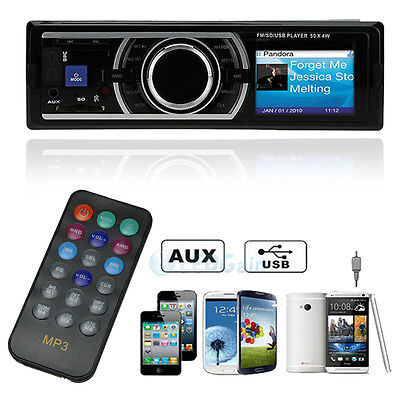 Car In-Dash Stereo Audio FM Aux Input Receiver SD USB MP3 Radio Player