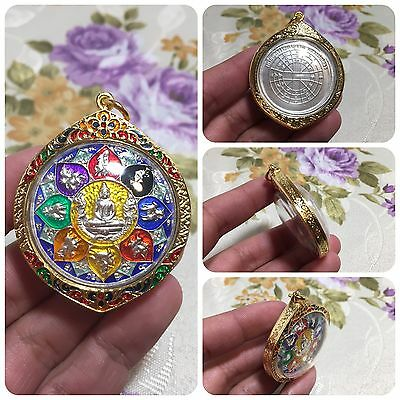 Beautiful Lp SoThorn 12 Zodiacs Thai Buddha Amulet Luck Rich Wealth Protect.