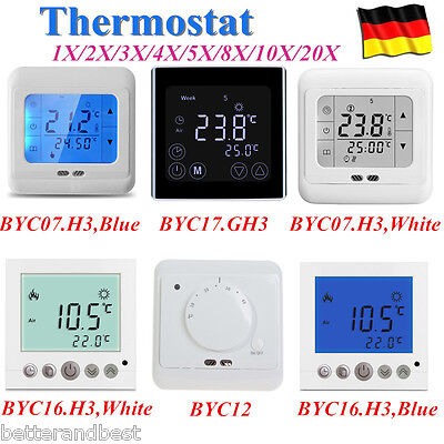 LCD Digital Thermostat Raumthermostat Fußboden Wandheizung Touch Screen