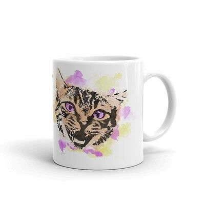 (New) White Glossy Watercolor Crazy Cat Lady Coffee Mug - 11oz