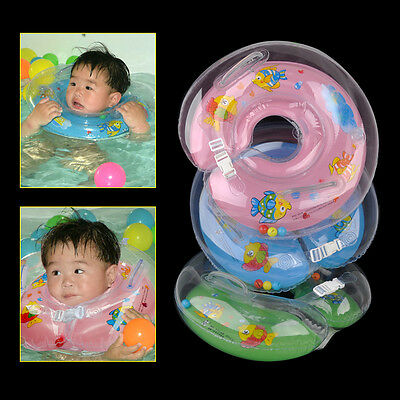 Inflatable Newborn Swimming Neck Circle Baby Float Ring Infant Bath Safety Aid