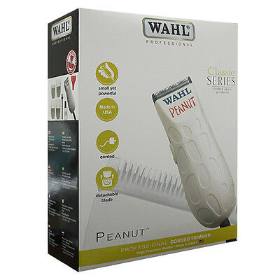 Wahl Classic Series Professional Peanut Corded Salon Trimmer White 8655