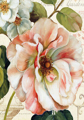 Shabby Chic French Provincial Botanical Rose Floral Quality Canvas Print