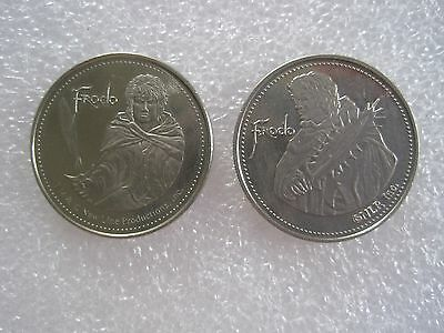 2 Different Lord Of The Rings Frodo Collector Tokens Coin Lot Of 2