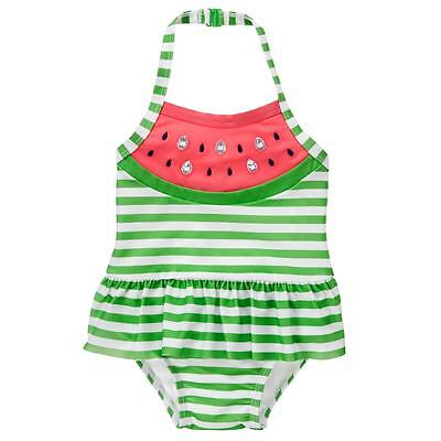 NWT Gymboree Watermelon Girl Striped One Piece Swimsuit Bathing Suit 2T 3T 4T 5T