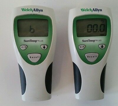 Lot of 2  WelchAllyn SureTemp Plus 690 Thermometers   Welch Allyn