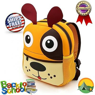 Animal Backpack School Bag For Kids By LABOO With Cute Dog Head Cartoon Print
