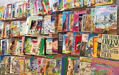 ENORMOUS LOT of 129 Children's picture books-from teacher's classroom library