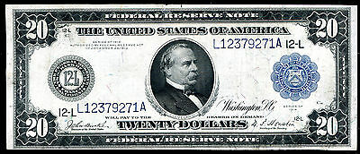 Fr. 1010 1914 $20 Frn Federal Reserve Note San Francisco, Ca Very Fine Scarce