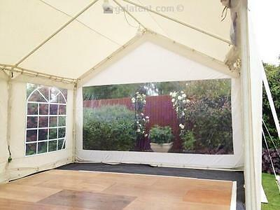 Set of 2 - 3m Gala Tent Party Marquee End Sidewall Panoramic Clear Window Panel