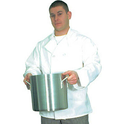 Chef Jacket Plastic Buttons White