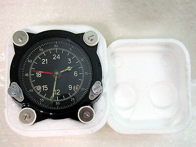 129-ChS 55M Vintage USSR Soviet Aircrafts TU-134 MIG HELICOPTER MI-9 Panel Clock