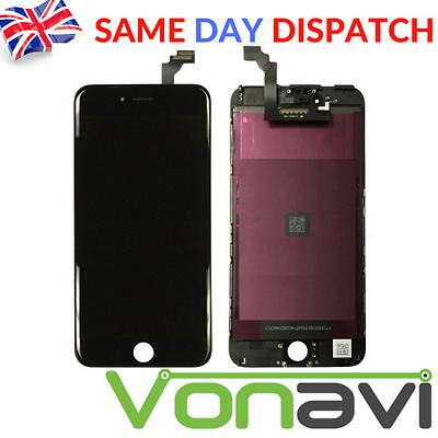 NEW OEM iPhone 6 Black Retina LCD & Digitiser Touch Screen Replacement Assembly