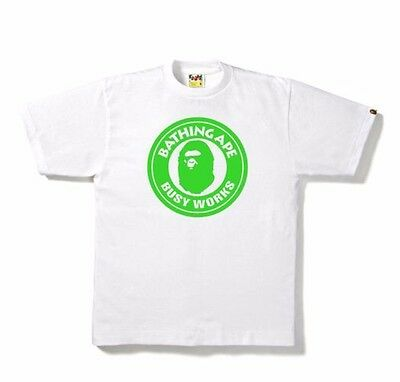b201946b A BATHING APE Neon Busy Works Tee Mens Size Large - $100.00 | PicClick