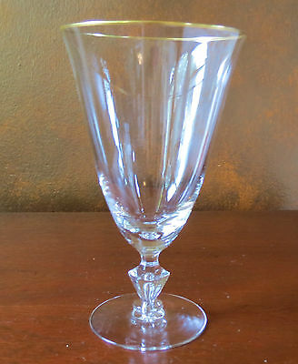 Tiffin Mansfield Gold Rim #17640 Air Bubble Stem Iced Tea Footed Tumbler(s)