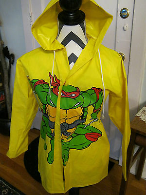Vintage Teenage Mutant Ninja Turtles childs raincoat 1989