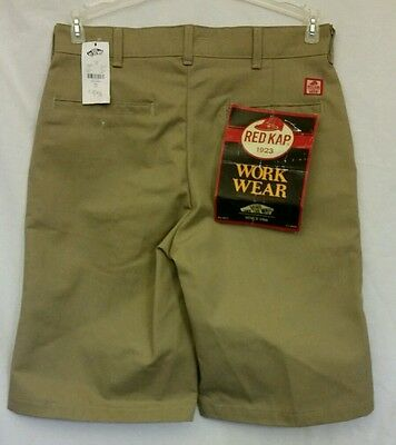 Vans Red Kap Khaki Work Shorts Size NWT New with tags