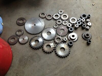Industrial Sprockets / Weld On Boss . Bulk Lot Tractor Baler Machine Conveyor