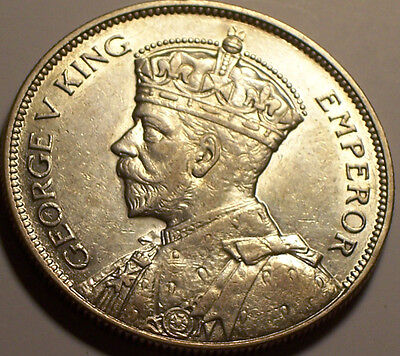 British Rhodesia, 1932 George V Half Crown, 1/2 Crown. 634,000 Mintage.