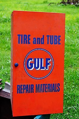 1950's Gulf Tire & Tube Repair Cabinet