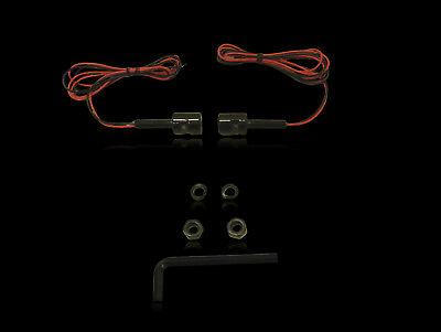 Custom Dynamics Bolts w/LED Number Plate Auxillary Lights Blk (Pair)