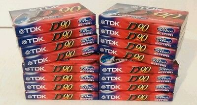 LOT OF 16 NEW SEALED BLANK CASSETTE TAPES TDK D90 High Output New Old Stock