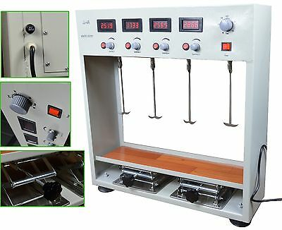 Lab Electric Overhead Stirrer Mixer Variable Speed 100W Four Head