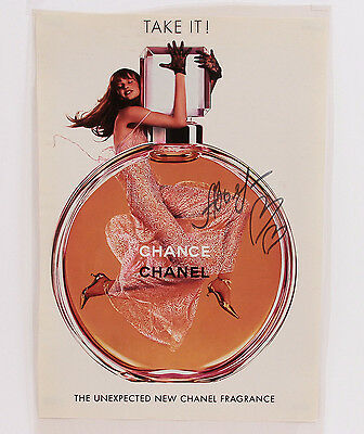 Chanel 2002 Chance Fragrance Light Box Transparency Photo Display Advertisement